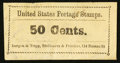 Large Size:Demand Notes, Bergen & Tripp 114 Nassau Street New York, NY 50 Cents. PE141.Extremely Fine. . ...