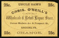 Large Size:Demand Notes, Chris. O'Neill's Wholesale & Retail Liquor Store Brooklyn 25 c.PE557. About New.. ...