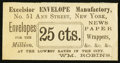 Large Size:Demand Notes, Excelsior Envelope Manufactory 51 Ann Street New York, NY 25 cts.PE599. New.. ...