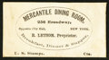 Large Size:Demand Notes, Mercantile Dining Room 256 Broadway NY (Blank) Cts. PE489.Extremely Fine.. ...