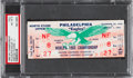Football Collectibles:Tickets, 1960 NFL Championship Game Packers Vs. Eagles Full Ticket PSA NM-MT 8 - Single Highest Graded Example! ...