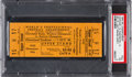 Football Collectibles:Tickets, 1945 NFL Championship Game Rams Vs. Redskins Ticket PSA VG 3 - Only Light Orange Example Graded!...