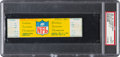 """Football Collectibles:Tickets, 1967 NFL Championship Game """"The Ice Bowl"""" Full Ticket PSA Authentic...."""