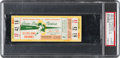 Football Collectibles:Tickets, 1965 NFL Championship Game Packers Vs. Browns Full Ticket PSA Authentic. ...