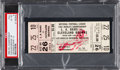 Football Collectibles:Tickets, 1955 NFL Championship Game Browns Vs. Rams Full Ticket PSA EX-MT 6 - One of Only Three Graded!...
