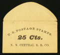 Large Size:Demand Notes, New York Central R.R.Co. (Albany) 25 Cts. PE524. Very Fine.. ...
