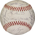 Autographs:Baseballs, 1962 New York Yankees & San Francisco Giants Team SignedBaseball....