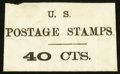 Large Size:Demand Notes, Anonymous U.S. POSTAGE STAMPS 40 CTS. PE855. Very Fine.. ...