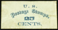 Large Size:Demand Notes, Anonymous U.S. Postage Stamps 25 CENTS. PE887. Very Fine.. ...
