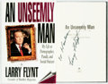 Books:Biography & Memoir, [Hustler]. Larry Flynt. INSCRIBED. An Unseemly Man. Dove, [1996]. First edition, first printing. Signed and in...