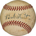Autographs:Baseballs, Late 1930's Babe Ruth Single Signed Baseball....