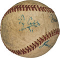 Autographs:Baseballs, Circa 1950 Ty Cobb & Jim Thorpe Signed Baseball....