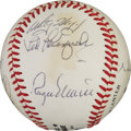 Baseball Collectibles:Balls, 1977 Roger Maris Multi Signed Baseball. ...