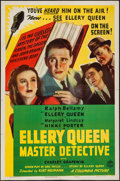 "Movie Posters:Mystery, Ellery Queen, Master Detective (Columbia, 1940). One Sheet (27"" X41""). Mystery.. ..."
