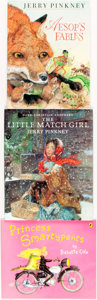 Books:Children's Books, Group of Three SIGNED Children's Books. Various publishers anddates. Titles include: The Little Match Girl, [and:]Ae... (Total: 3 Items)