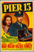 "Movie Posters:Mystery, Pier 13 (20th Century Fox, 1940). One Sheet (27"" X 41""). Mystery....."
