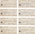 Autographs:Checks, 1990's Ted Williams Signed Checks Lot of 72....