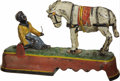 """Antiques:Toys, """"I Always Did 'Spise a Mule"""" Mechanical Bank - White Mule..."""