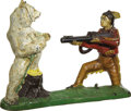 Antiques:Toys, Indian and White Bear Mechanical Bank...