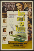 """Movie Posters:Thriller, They Were So Young (Lippert, 1954). One Sheet (27"""" X 41""""). Thriller. ..."""
