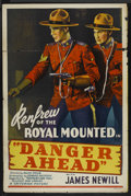 "Movie Posters:Adventure, Danger Ahead (Monogram, 1940). One Sheet (27"" X 41""). Adventure...."