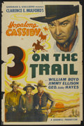 """Movie Posters:Western, 3 on the Trail (Goodwill Productions, R-1949). One Sheet (27"""" X 41""""). Western. ..."""