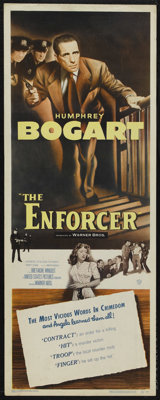 "The Enforcer (Warner Brothers, 1951). Insert (14"" X 36""). Film Noir"