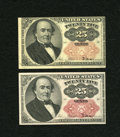 Fractional Currency:Fifth Issue, Fr. 1309 25c Fifth Issue. Two Examples. VF; Choice New.. ...(Total: 2 notes)