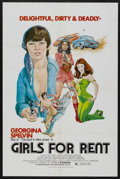 """Movie Posters:Sexploitation, Girls For Rent (Independent International Pictures , 1974). OneSheet (27"""" X 41""""). Sexploitation. ..."""