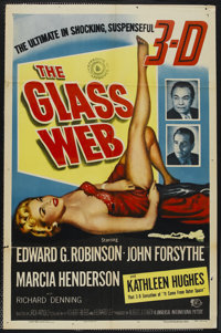 "The Glass Web (Universal International, 1953). 3-D One Sheet (27"" X 41""). Crime"
