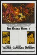 "Movie Posters:War, The Green Berets (Warner Brothers, 1968). One Sheet (27"" X 41"").War. ..."