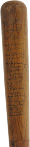 Autographs:Bats, 1954 Hall of Famers Multi-Signed Bat. Astounding assortment ofautographs was collected on a full-size store model Hilleric...