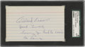 "Autographs:Index Cards, 1970's Willard Brown Signed Index Card. You know you've got powerwhen Josh Gibson gives you the nickname ""Home Run."" Brown..."