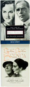 Books:Biography & Memoir, Henry Miller and Brenda Venus. Gerald Seth Sindell, editor.Dear, Dear Brenda: The Love Letters of Henry Miller to Brend...(Total: 2 Items)