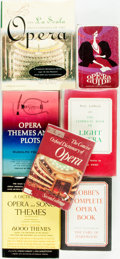 Books:Music & Sheet Music, [Music.] Group of Seven Books Related to Opera. Various publishersand dates. ... (Total: 7 Items)