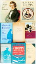 Books:Music & Sheet Music, [Frédéric Chopin.] Group of Eight Books Related to Chopin. Variouspublishers and dates. ... (Total: 8 Items)
