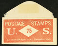 Large Size:Demand Notes, J. LEACH 86 NASSAU STREET N.Y. STATIONARY 75 (CENTS). PE409. Extremely Fine. . ...
