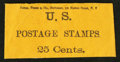 Large Size:Demand Notes, Cutter, Tower & Co. Stationers 128 Nassau Street N.Y. 25 Cents.PE213. Extremely Fine.. ...