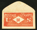 Large Size:Demand Notes, J. Leach 86 Nassau ST N.Y. Stationary 50 Cents. PE407. Extremely Fine.. ...