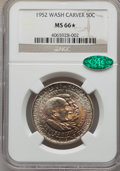 1952 50C Washington-Carver MS66★ NGC. CAC. NGC Census: (293/28 and 20/11*). PCGS Population: (371/24 and 20/11*). CDN: $...