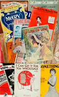 Books:Music & Sheet Music, [Sheet Music]. Collection of Early Twentieth Century Sheet Music.Various publisher's and dates. ...