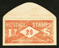 Large Size:Demand Notes, J. Leach 86 Nassau ST N.Y. Stationary 20 Cents. PE395. Extremely Fine.. ...