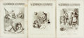 Books:Periodicals, [Periodicals]. Three Copies of The Dominion Illustrated,Vol. I, Nos. 1, 4 and 7, July-August, 1888. ...
