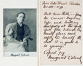 Autographs:Authors, Margaret DeLand, American Writer (1857-1945). Manuscript Quote fromJohn Ward, Dated Nov. 26th, 1891, Copied and Signed by Mar...