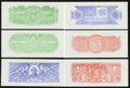 Confederate Notes:Group Lots, Set of Six Chemicograph Backs Intended for Confederate PaperMoney.. ... (Total: 10 items)