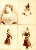 "Photography:Cabinet Photos, Group of Four Cabinet Cards Featuring ""Arlequine"". Paris:Reutlinger, [n.d., circa 1895]. ..."