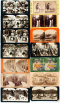 Photography:Stereo Cards, [Stereo Cards]. Group of Eighteen Stereo Cards Depicting Various Subjects. Various Publishers and dates, circa 1890. ...