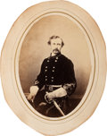 Photography:Studio Portraits, Rare Brigadier General George Armstrong Custer Large Oval Albumen Image, Used in Katz's Custer in Photographs Book...