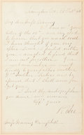 Military & Patriotic:Civil War, Robert E. Lee Autograph Letter Signed as President of Washington College ...