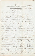 Autographs:Military Figures, Union General George Armstrong Custer Autograph Letter Signed...